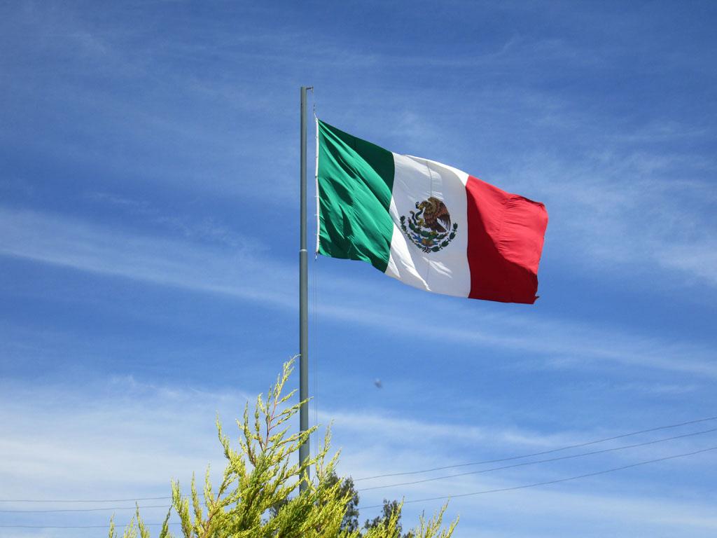 Bandera Mexico Capilla de Guadalupe