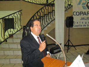 presidente COPARMEX Capilla de Guadalupe. Lic. Ricardo Casillas.