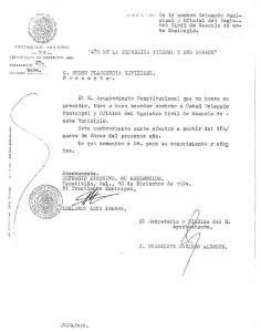 Nombramiento Delegación Mezcala 1974
