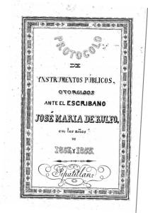 Bisabuelo Juan Rulfo Escribano de Tepatitlán 1
